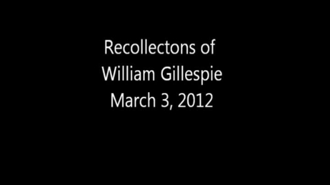 Thumbnail for entry William Gillespie