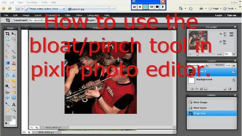 Thumbnail for entry How to use the Bloat/pinch tool in Pixlr.