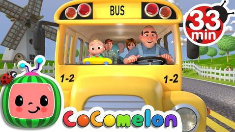 Thumbnail for entry Wheels on the Bus + More Nursery Rhymes & Kids Songs - CoComelon
