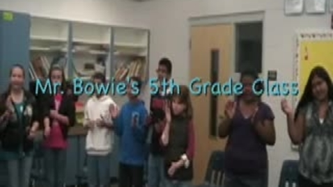 Thumbnail for entry Mr. Bowie's 5th Grade Class