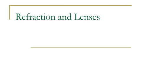 Thumbnail for entry Lenses notes w/o sound