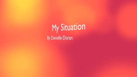 Thumbnail for entry Situation Problem  with Danielle