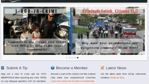 Thumbnail for entry How to use WeTip's Crime Reporting Form
