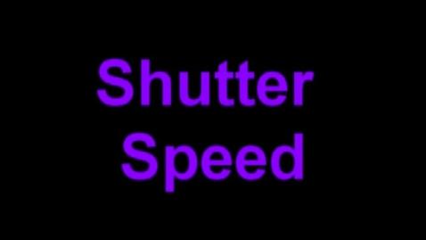 Thumbnail for entry Shutter Speed Tutorial