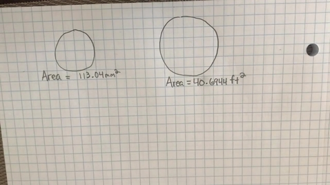 Thumbnail for entry Mr.Lamarre's Extra Help: Find Radius and Diameter from Area