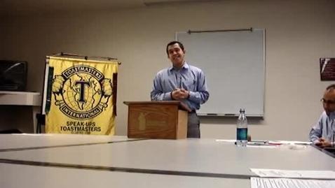 Thumbnail for entry Speech #1 Example #1: Bob Cain toastmasters