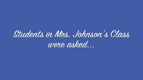 Thumbnail for entry Mrs. Johnson's Class Grandparents' Day Video 2012