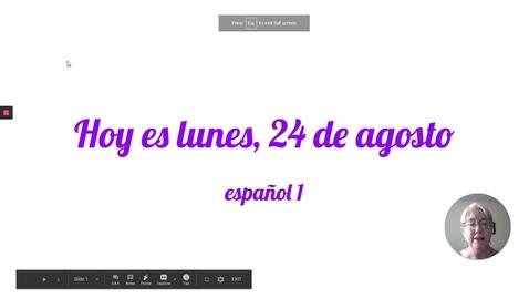 Thumbnail for entry Hoy es el 24 de agosto Sp 1