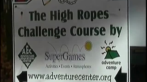 Thumbnail for entry Career Based Instruction (CBI) class goes to the high ropes course