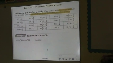 Thumbnail for entry PA Lesson 7-4 Percent of a Number Mentally and Estimating