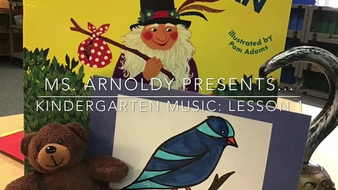 Thumbnail for entry Kindergarten Lesson 1: 2020-2021