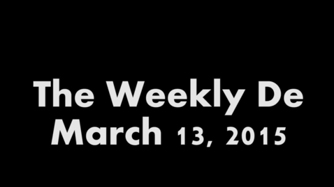 Thumbnail for entry 2015.03.13 - Weekly De