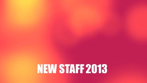 Thumbnail for entry New Staff