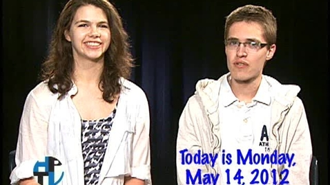 Thumbnail for entry Monday, May 14, 2012