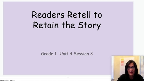 Thumbnail for entry Retell to Remember