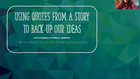 Thumbnail for entry Using Quotes to Back Up Our Ideas