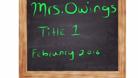 Thumbnail for entry Meet the Tiger Staff - Mrs. Owings