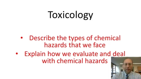 Thumbnail for entry Toxicology