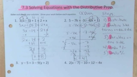 Thumbnail for entry 7.4 Determining if Equations Have One, Infinite, or No Solution(s)