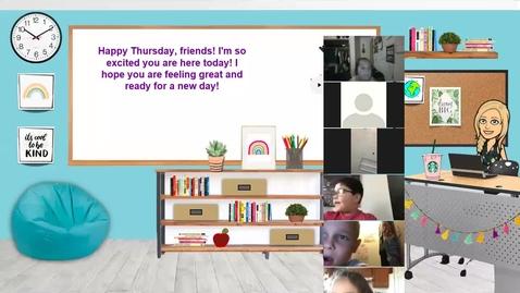 Thumbnail for entry Morning Meeting - Sept 3