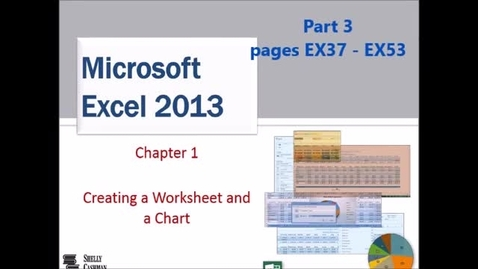 Thumbnail for entry Excel 1 Creating a Worksheet and a Chart - Part 3 of 3
