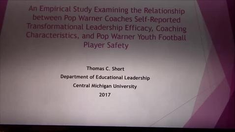 Thumbnail for entry Tom Short Coaching Study
