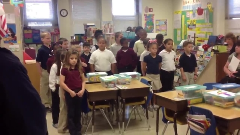 """Thumbnail for entry St. Paul's 2nd graders sing """"A Mighty Fortress"""" for Grandparents Day"""