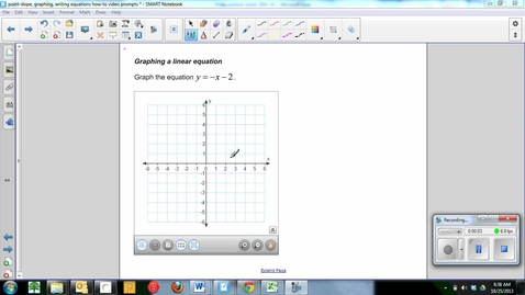 Thumbnail for entry Graphing a linear equation-Mikayla ellen and taylor