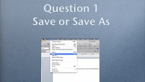 Thumbnail for entry Saving Documents on MacBook Pro