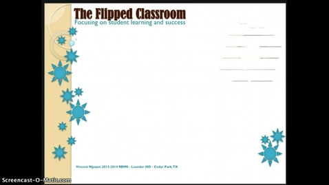 Thumbnail for entry Why the flipped classroom?