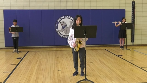 Thumbnail for entry Snug Harbor Elementary  Band 2021 Performs 3 Songs