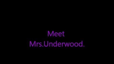 Thumbnail for entry Macy's interview with Mrs. Underwood