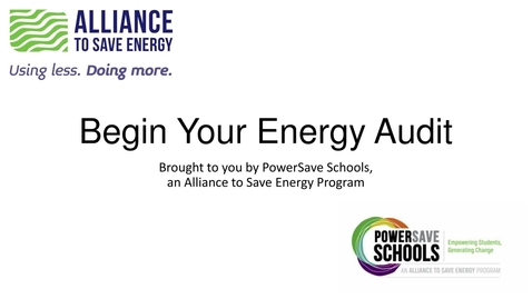 Thumbnail for entry Begin Your Energy Audit (9-12)