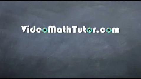 Thumbnail for entry Algebra: Solving Linear Inequalities - Sample Video