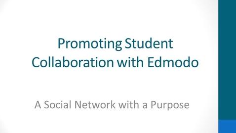 Thumbnail for entry Edmodo