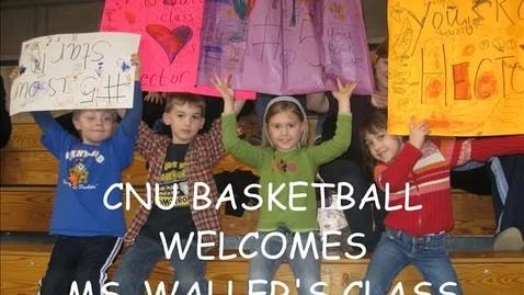 Thumbnail for entry Ms. Walller's Class Loves CNU Basketball