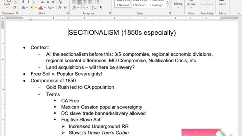 Thumbnail for entry APUSH Review 8: Sectionalism