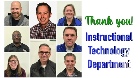 Thumbnail for entry Thank You Instruction Technology Department
