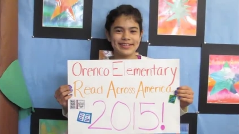 Thumbnail for entry New Book Orenco Read Across America Video 2015