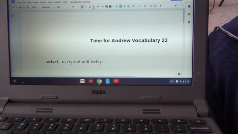 Thumbnail for entry Twenty Second Vocabulary Sheet for Time for Andrew by Mary Downing Hahn