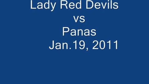 Thumbnail for entry Lady Red Devils v Panas