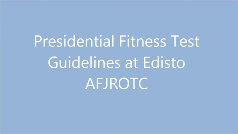 Thumbnail for entry Presidential Fitness Test at Edisto High