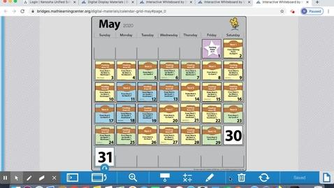 Thumbnail for entry May Calendar June 1