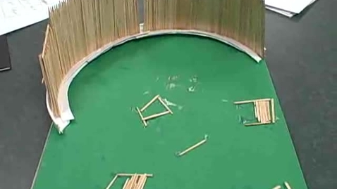 Thumbnail for entry Baseball Field Toothpick Creation