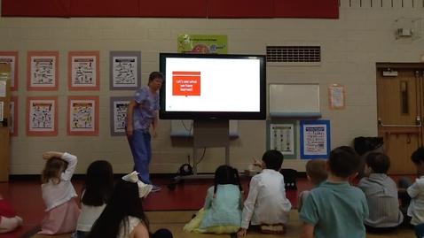 Thumbnail for entry Nurse Wild teaching Kindergarten 02