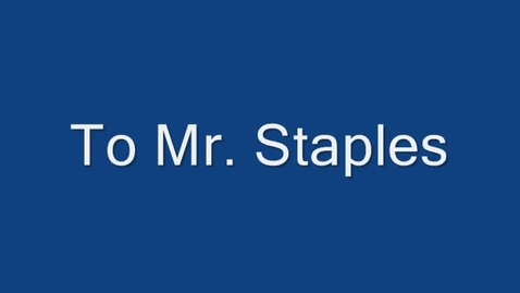 Thumbnail for entry Mr Staples 10 Yr. Anniversary