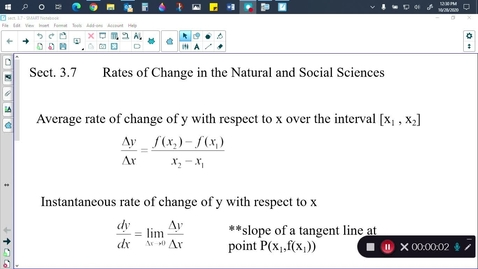 Thumbnail for entry Calc sect. 3.7