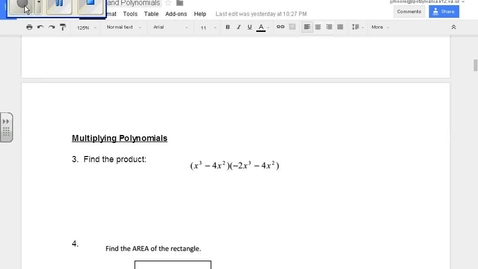 Thumbnail for entry SOL Review Polynomials Question 3 Multiplying Polynomials