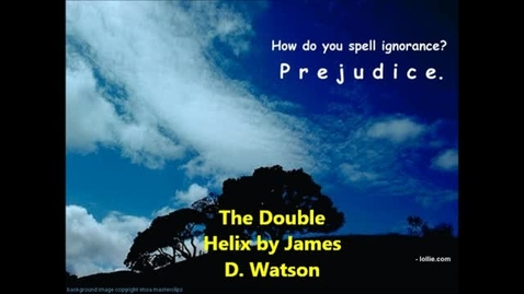 Thumbnail for entry The Double Helix by James D. Watson