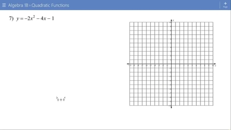 Thumbnail for entry Algebra 1B Lesson 15 #7